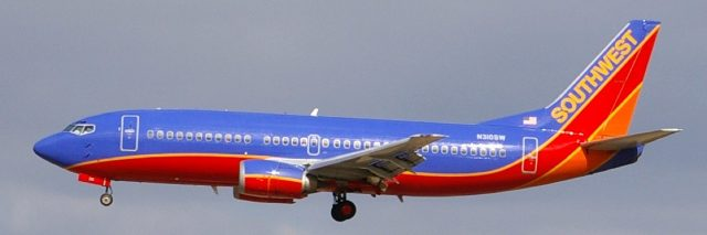 Photo of Southwest airplane