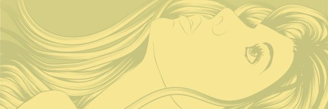 Background with beautiful woman looking up with hair flowing. Face and hair are on separate layers. Extra folder includes Illustrator CS2 AI and PDF files.