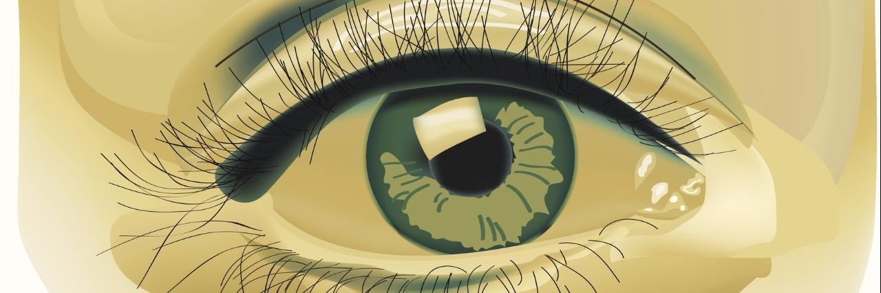 vector eye and eybrow