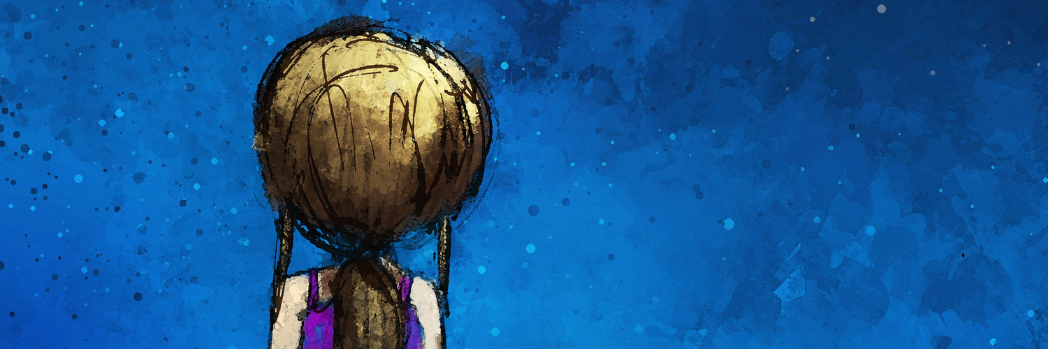 digital painting of girl sitting lonely in the moonlight, watercolor on paper texture