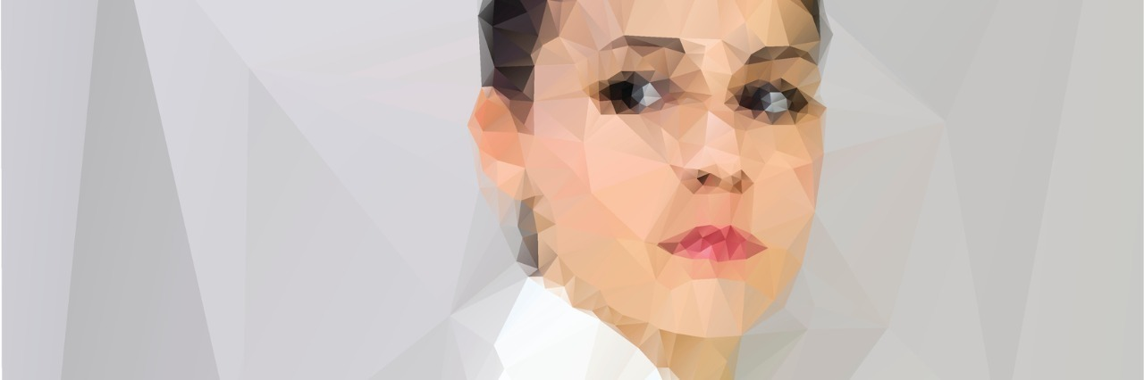 illustration of woman in a white coat looking over her shoulder suspiciously