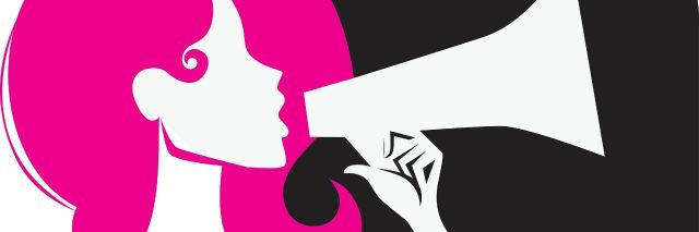 illustration of a woman speaking into a megaphone