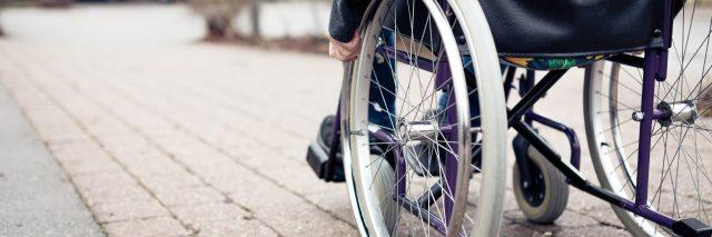 Man in wheelchair.