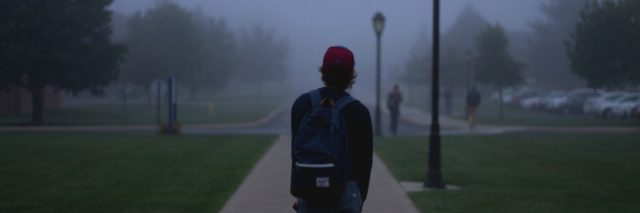 student on a campus