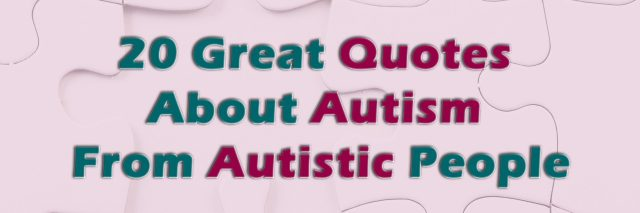 Autism quotes poster.
