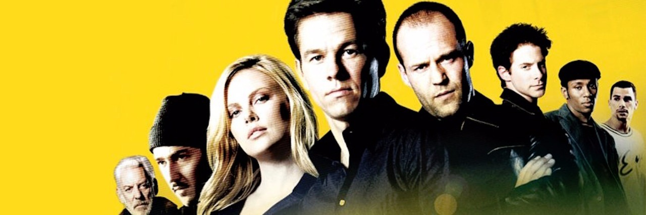 actors in the italian job (with mark wahlberg and charlize theron front and center)