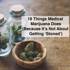Marijuana, Medical, Cannabis Sativa, Cannabis Indica, in glass jars and bowl