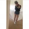selfie of girl in shorts