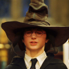 Harry Potter under a shorting hat