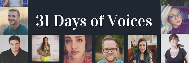 pictures of people. text reads: 31 days of voices