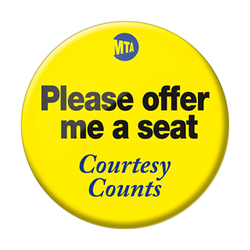 Courtesy Counts Pin