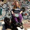 Karin at the Philadelphia Magic Gardens.