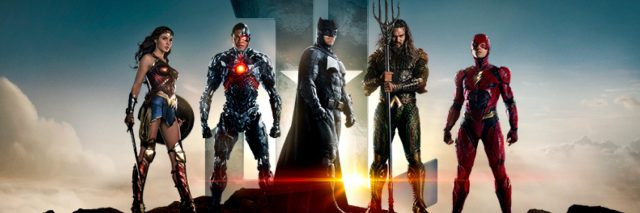 Promotional image of Justice League heroes