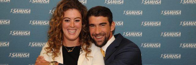 Michael Phelps and Allison Schmitt Hugging