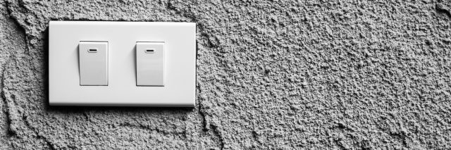 light switch on wall background