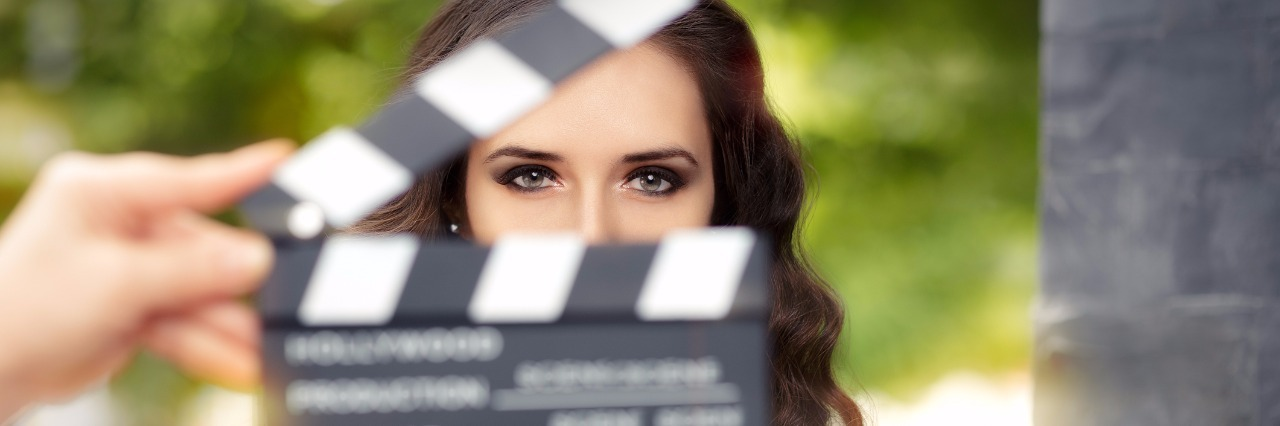 Young actress ready to film a new scene