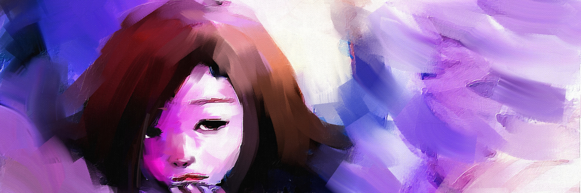 digital painting of girl dressed as an angel