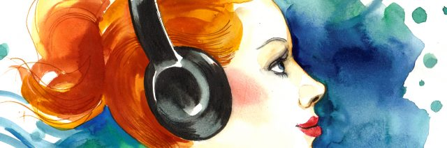 Pretty Woman listening to the music