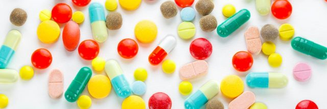 pills of different shapes and sizes