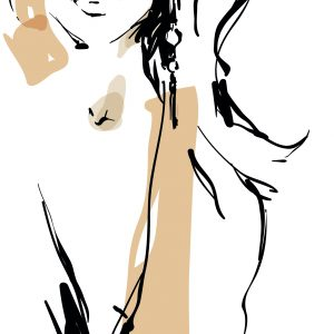Sketch of woman.