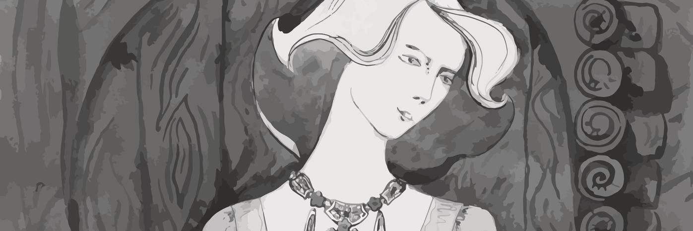 Vector Elegant lady. Vintage llustration .watercolor