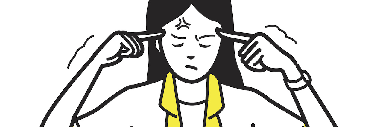 An illustration of a frustrated woman