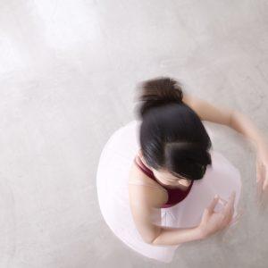 A ballerina spinning