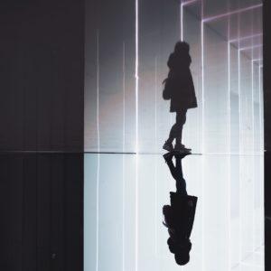 mirrored girl
