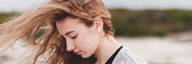 girl hair blowing in wind
