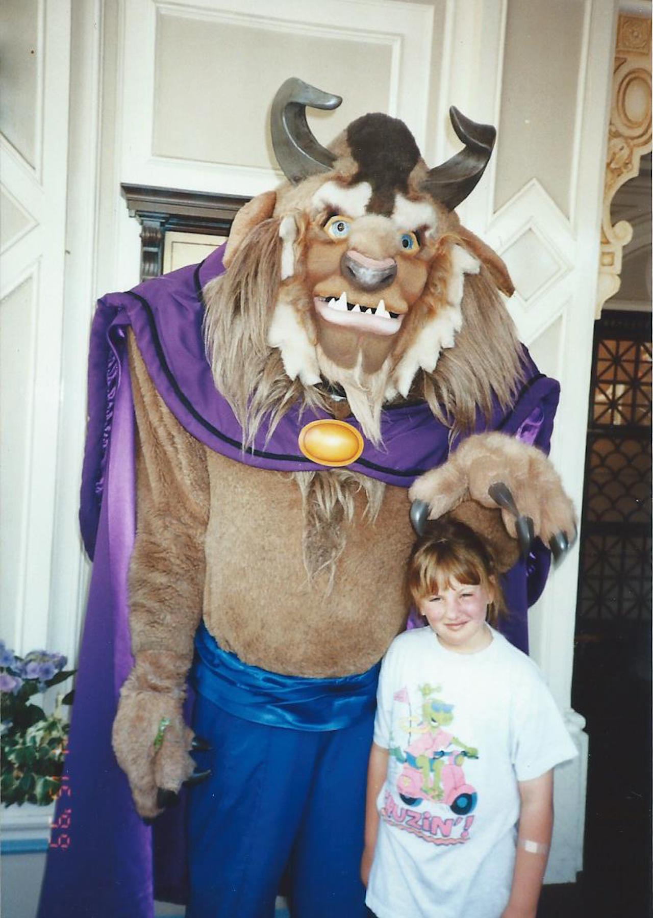 little girl with the beast