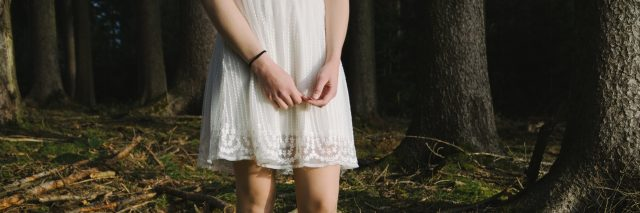 girl white dress feet