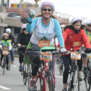 allison moore riding bike in race