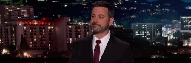 Jimmy Kimmel delivering monologue on show