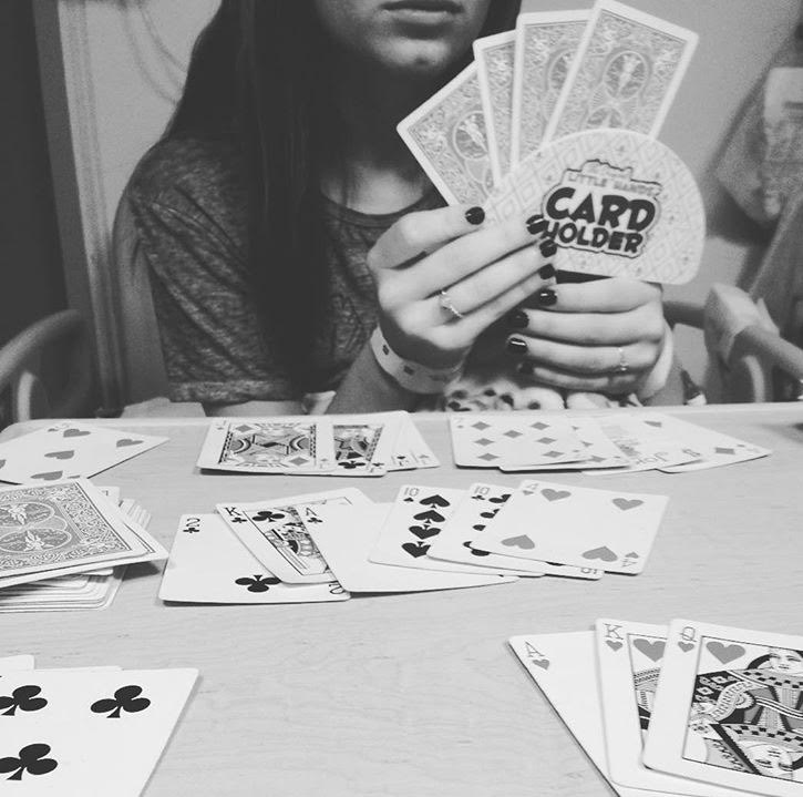 girl playing card games