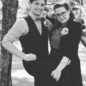 two friends dressed up for prom