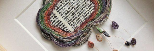newspaper yarn design of cloud