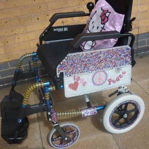 decorated wheelchair