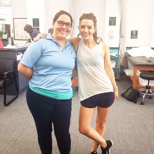 woman with her trainer at vestibular rehab in Brooklyn