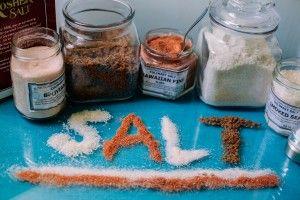 several jars of salt