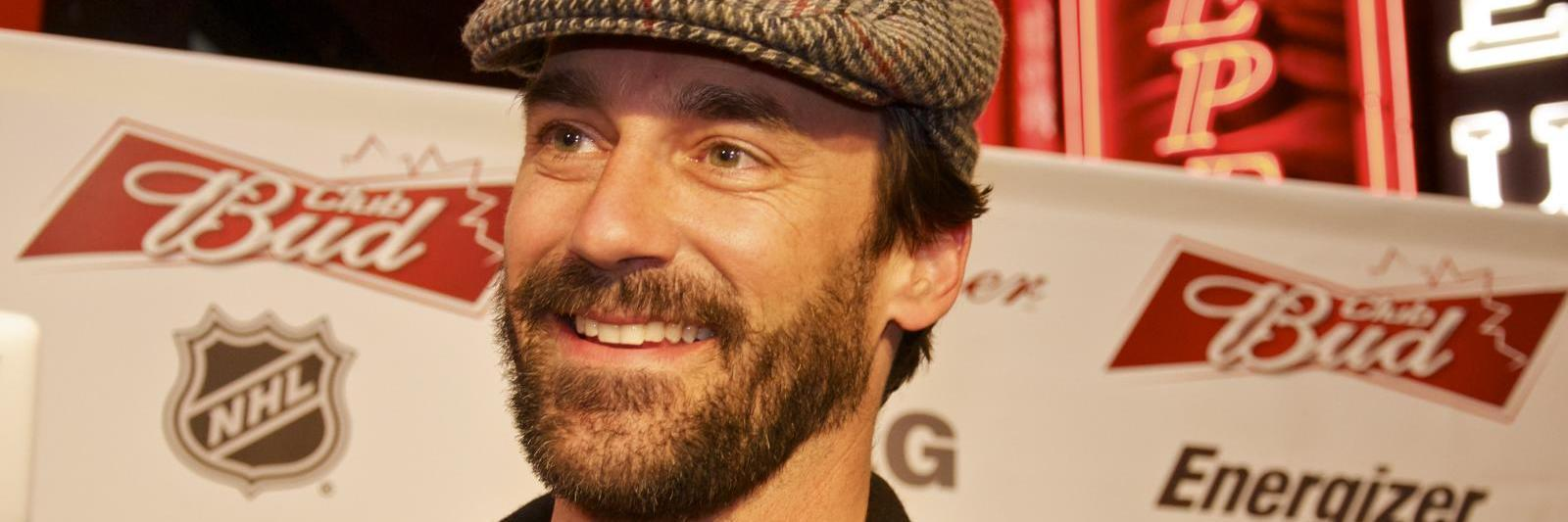 Jon Hamm wearing a hat.