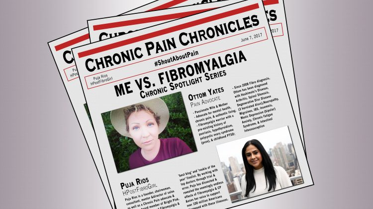 chronic pain chronicles newspaper article with photos of ottum yates and puja rios