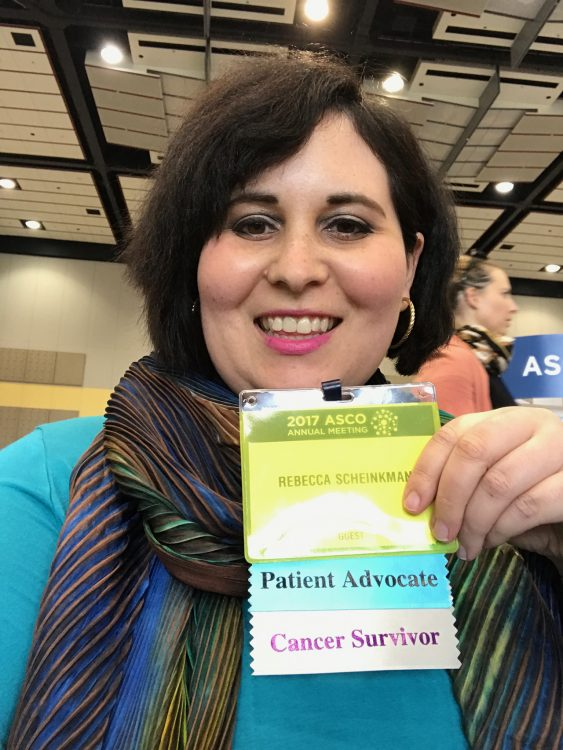woman cancer survivor at conference