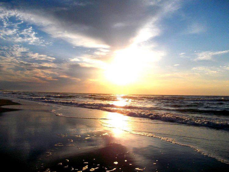 sunrise over the ocean on Pawleys Island in South Carolina