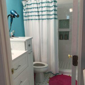 Sarah's accessible bathroom.