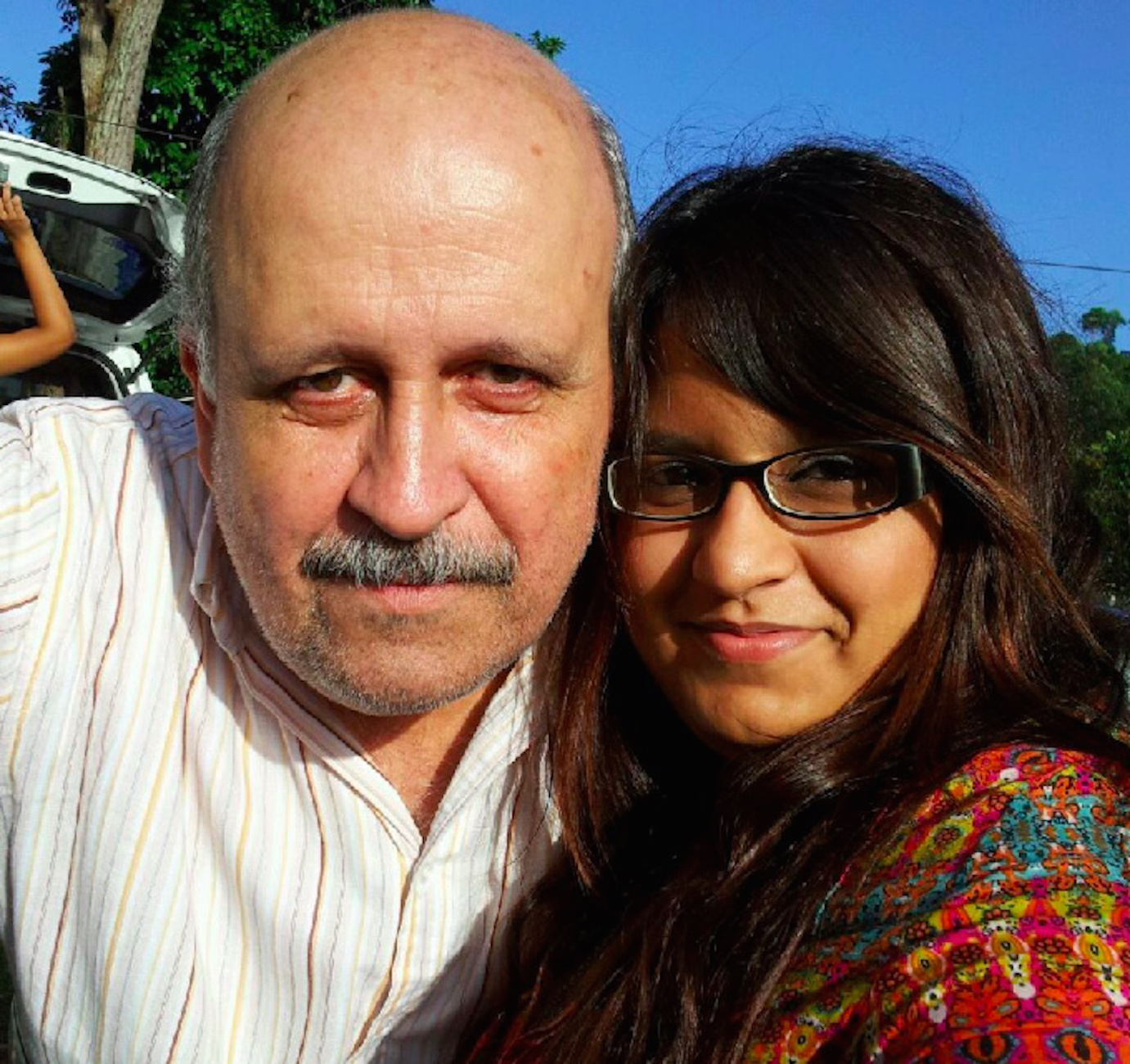 The author with her father