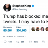 Stephen King trump suicide tweet