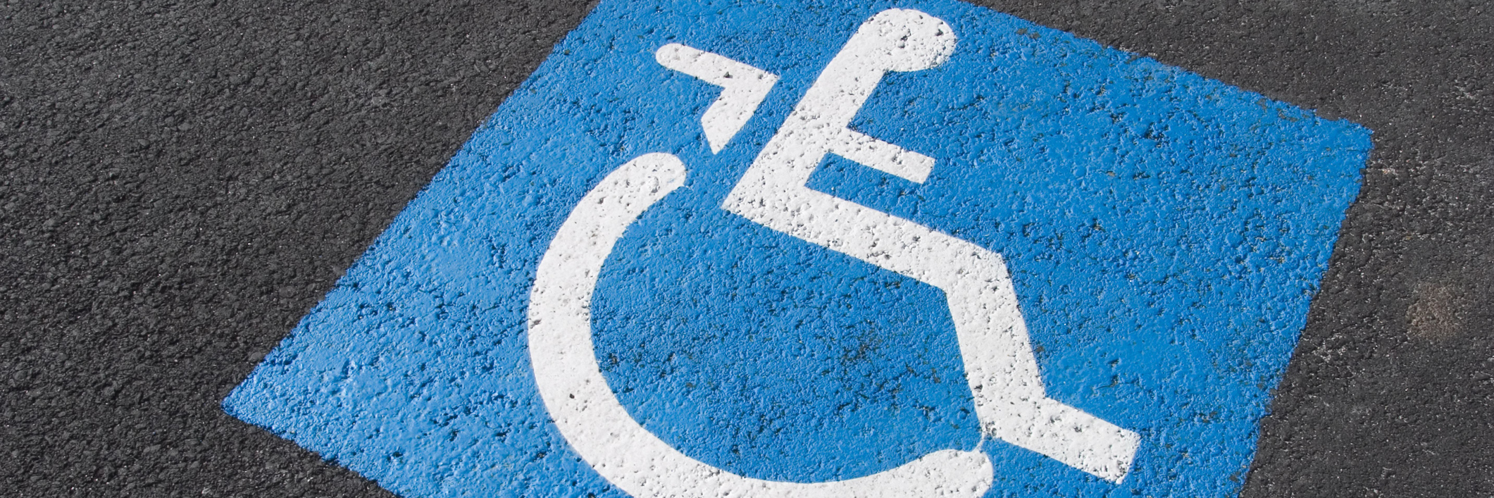 disability symbol in parking space