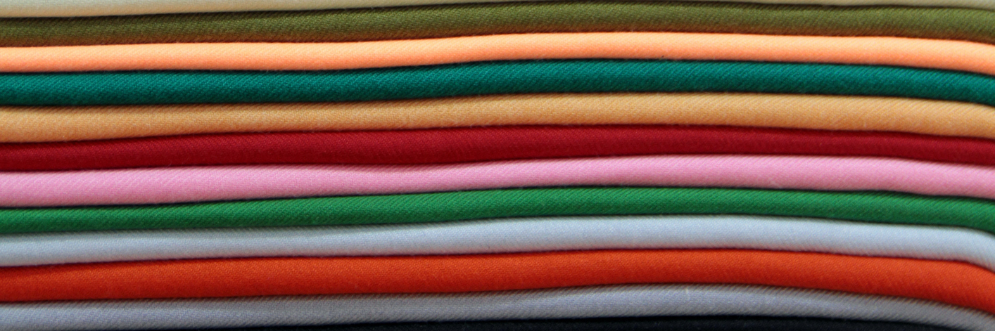 layers of colorful blankets
