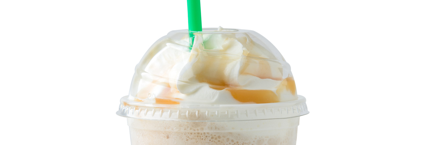 iced coffee and whipped cream