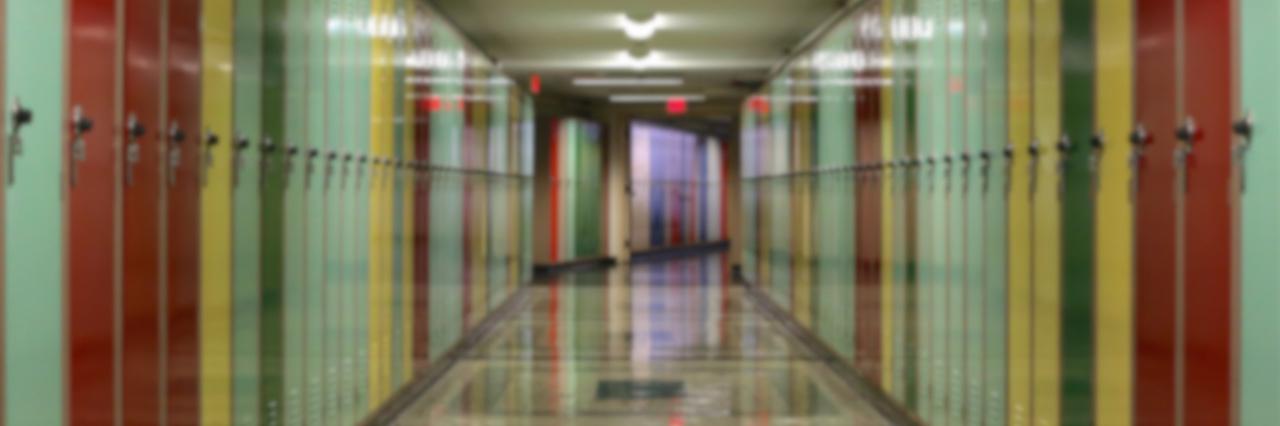 hallway full of lockers